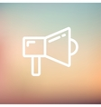 Megaphone thin line icon vector image