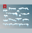 snow ice cap snowfall with snowflakes winter vector image