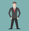 Young positive businessman vector image