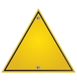 yellow traffic sign icon vector image
