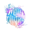 Blue and pink winter typography poster or card vector image