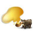 A bear and a pot of honey vector image