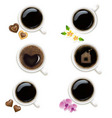 collection of cups from coffee vector image