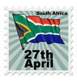 post stamp of national day of South Africa vector image vector image