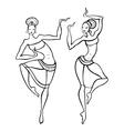 Beautiful asian dancer vector image