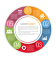 Circle Infographics Template vector image