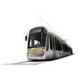 city transport tram vector image