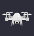 drone with camera vector image