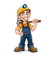 Miner vector image