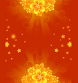 orange flowers vector image