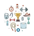 set of for a fitness tool vector image