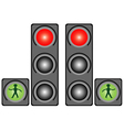 Traffic light in the city vector image