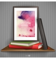 Wood Shelf With Photo Frame vector image