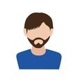 man guy boy person beard face head icon vector image