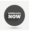 Download now icon Load button vector image