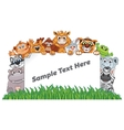 Animal Zoo Banner Funny Animals with Empty Sign vector image vector image