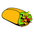 wrap sandwich icon cartoon vector image