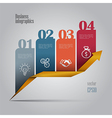 Colorful business infographics vector image