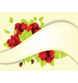 Red roses and ribbon vector image