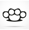 Silhouette simple symbol of Brassknuckles vector image