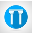Flat icon for arch with column vector image