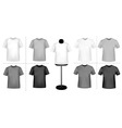 polo shirts with mannequins vector image vector image