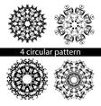 mandala zentangl doodle painting pattern vector image