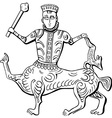Vintage king centaur vector image vector image