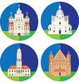 architecture flat icon vector image