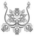 Black lace for vintage card decoration Zentangle vector image