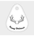 Deer alers with abstract doodle pattern Christmas vector image