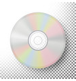 dvd disc realistic compact cd disc mock up vector image