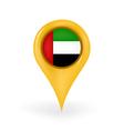 Location United Arab Emirates vector image