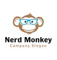 Nerd Monkey Design vector image