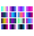 set of gradient backgrounds blurred shades of vector image