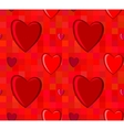 Valentines Day seamless pattern with hearts on vector image