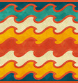 warm color wave seamless pattern vector image