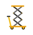 delivery cart isolated icon vector image