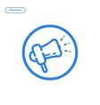 flat line megaphone icon vector image