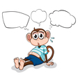 A tired monkey thinking vector image vector image