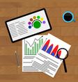economic chart financial vector image