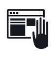 website internet hand touch digital vector image