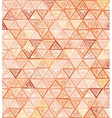 Ornate hand-drawn vintage beige triangles vector image vector image