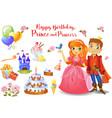 cute birthday design elements vector image vector image