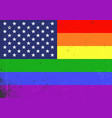 gay america lgbt gay and lesbian pride rainbow vector image