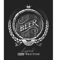 Barrel of beer on chalkboard vector image