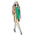 Fashion of walking woman vector image vector image
