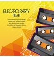 Cassette icon Electro Party design vector image