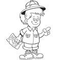 Cartoon of an girl explorer vector image