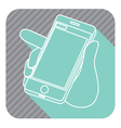 phone in a hand vector image